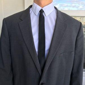 THEORY Men's Striped Grey Blazer Size 48R